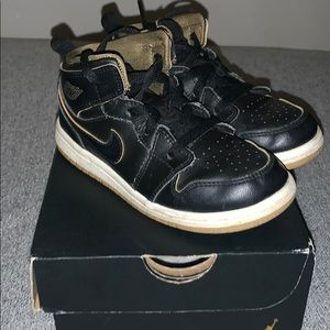 Nike Jordan Black and Gold high tops! Original Box